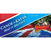 Canoe & Kayak Map of Britain by Peter Knowles, 9780955061431