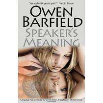 Speaker's Meaning by Owen Barfield, 9780956942302