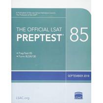The Official LSAT Preptest 85: (sept. 2018 Lsat) by Law School Council, 9780999658017