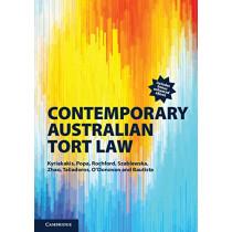 Contemporary Australian Tort Law by Joanna Kyriakakis, 9781108626255