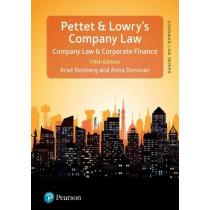Pettet, Lowry & Reisberg's Company Law, 5th edition by Arad Reisberg, 9781292078632