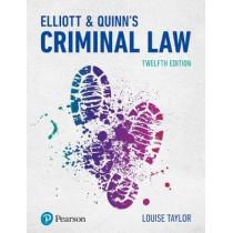 Elliott & Quinn's Criminal Law by Louise Taylor, 9781292208480