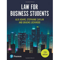 Law for Business Students, 11th Edition by Alix Adams, 9781292272245