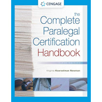 The Complete Paralegal Certification Handbook by Virginia Newman, 9781337798877