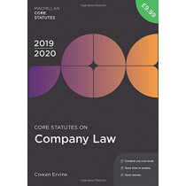 Core Statutes on Company Law 2019-20 by Cowan Ervine, 9781352006728