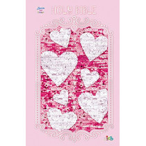 ICB, Sequin Sparkle and Change Bible, Hardcover, Pink by Thomas Nelson, 9781400210732