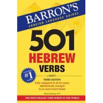 501 Hebrew Verbs by Shmuel Bolozky, 9781438010403