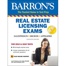 Barron's Real Estate Licensing Exams with Online Digital Flashcards by Jack P. Friedman, 9781438011868