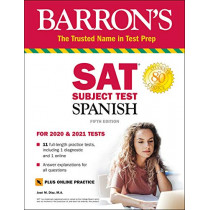 SAT Subject Test Spanish with Online Test by Jose M. Diaz, 9781438012254
