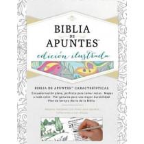 RVR 1960 Biblia de apuntes, edicion ilustrada, blanco en tela para colorear, 9781462746521