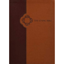 Living Bible Large Print Edition Brown/Tan, Indexed by Tyndale, 9781496433527