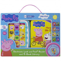 Peppa Pig: Me Reader Jr: Electronic Look and Find Reader and 8-Book Library by Susan Rich Brooke, 9781503735002