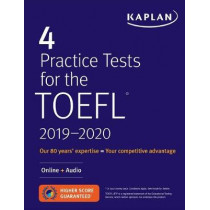 4 Practice Tests for the TOEFL 2019-2020: Listening Tracks Online + Mobile by Kaplan Test Prep, 9781506237381