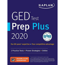 GED Test Prep Plus 2020: 2 Practice Tests + Proven Strategies + Online by Caren Van Slyke, 9781506258669