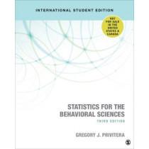 Statistics for the Behavioral Sciences by Gregory J. Privitera, 9781506389882