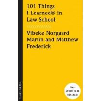 101 Things I Learned in Law School by Vibeke Norgaard Martin, 9781524762025