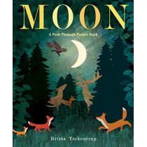 Moon: A Peek-Through Picture Book by Britta Teckentrup, 9781524769666