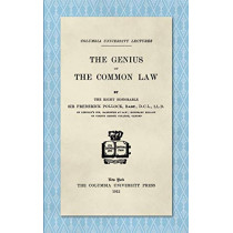 The Genius of the Common Law (1912) by Sir Frederick Pollock, 9781584770435
