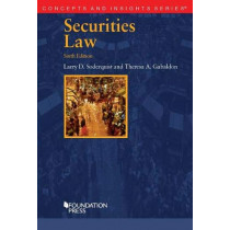 Securities Law by Larry D. Soderquist, 9781642425765
