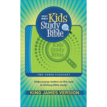 KJV Kids Study Bible Flex Green Blue, 9781683072829