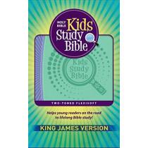 KJV Kids Study Bible Flex Purple Green, 9781683072836