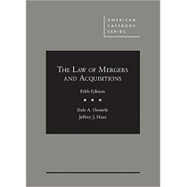 The Law of Mergers and Acquisitions by Dale Oesterle, 9781683289791