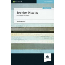 Boundary Disputes: Practice and Precedents by William Hanbury, 9781784460327