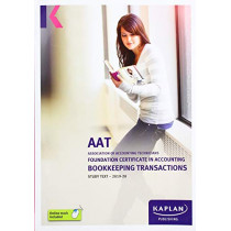 Bookkeeping Transactions - Study Text by Kaplan, 9781787405066