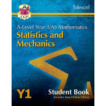 New A-Level Maths for Edexcel: Statistics & Mechanics - Year 1/AS Student Book (with Online Edn) by CGP Books, 9781789083620