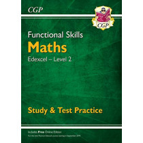 New Functional Skills Edexcel Maths Level 2 - Study & Test Practice (with Online Edition) by CGP Books, 9781789083934