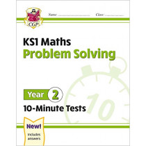 New KS1 Maths 10-Minute Tests: Problem Solving - Year 2 by CGP Books, 9781789086362