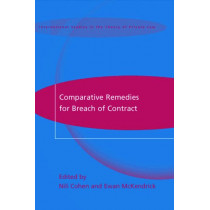 Comparative Remedies for Breach of Contract by Ewan McKendrick, 9781841134536
