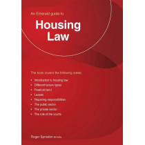 Housing Law: An Emerald Guide by Roger Sproston, 9781847168863