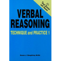 Verbal Reasoning: No. 1: Technique and Practice by Susan J. Daughtrey, 9781898696469