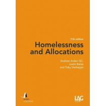 Homelessness and Allocations by Andrew Arden, 9781912273027