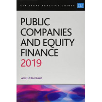 Public Companies and Equity Finance 2019 by Alexis Mavrikakis, 9781912363766