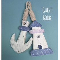 Guest Book, Visitors Book, Guests Comments, Vacation Home Guest Book, Beach House Guest Book, Comments Book, Visitor Book, Nautical Guest Book, Holiday Home, Bed & Breakfast, Retreat Centres, Family Holiday Guest Book (Hardback) by Lollys Publishing,