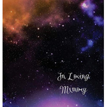 Stars, in Loving Memory Funeral Guest Book, Wake, Loss, Memorial Service, Love, Condolence Book, Funeral Home, Church, Thoughts and in Memory Guest Book (Hardback) by Lollys Publishing, 9781912641536