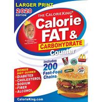 CalorieKing 2020 Larger Print Calorie, Fat & Carbohydrate Counter by Allan Borushek, 9781930448759