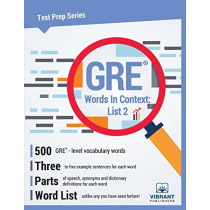 GRE Words in Context -- List 2 by Vibrant Publishers, 9781946383433