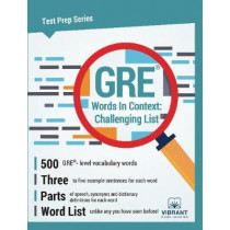 GRE Words in Context -- Challenging List by Vibrant Publishers, 9781946383440