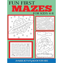 Fun First Mazes for Kids 4-8: A Maze Activity Book for Kids by Dylanna Press, 9781947243729
