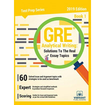 GRE Analytical Writing Solutions to the Real Essay Topics - Book 1 by Vibrant Publishers, 9781949395068