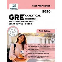 GRE Analytical Writing: Solutions to the Real Essay Topics - Book 1 (Fifth Edition) by Vibrant Publishers, 9781949395549