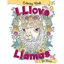 I Llove Llamas Coloring Book by Jen Racine, 9781951728106