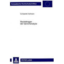 Rechtsfragen Der Genomanalyse by Constantin Hofmann, 9783631353523