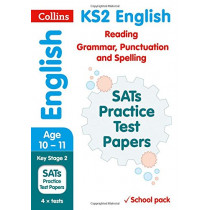KS2 English Reading, Grammar, Punctuation and Spelling SATs Practice Test Papers (School pack): 2018 tests shrink-wrapped school pack (Collins KS2 SATs Practice) by Collins KS2, 9780008278175