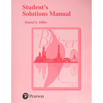Student's Solutions Manual for Precalculus by Robert F. Blitzer, 9780134470030