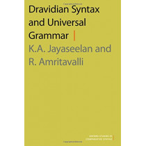 Dravidian Syntax and Universal Grammar by R. Amritavalli, 9780190630225