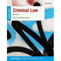 Criminal Law Directions by Nicola Monaghan, 9780198811824
